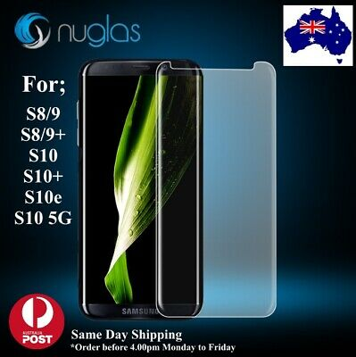 NUGLAS Tempered Glass Screen Protector for Samsung Galaxy S8 S9 S10 and Plus -3D