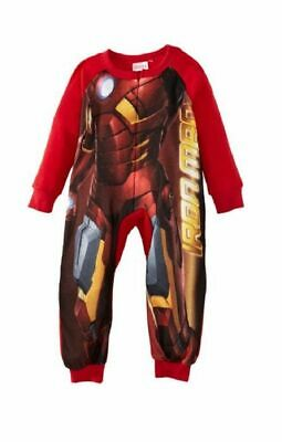 Iron Man Zipped Fleece Bodysuit Sleepsuit Ages 2 Years & 3 Years