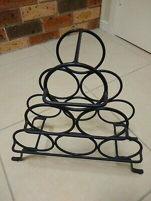 Wine Rack Storage 6 Bottle Organizer - Wrought Iron