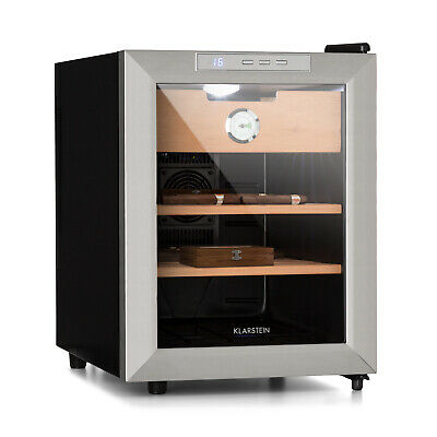 Cigar Humidor Cabinet Retro 50 W Touch Beechwood 33 L LED Free standing Black