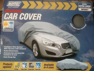Maypole Breathable Water Resistant Fabric Car Full Cover Extra large