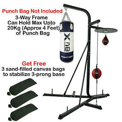 XN8 3 Way Free Standing Boxing Punch Bag Stand Heavy Duty Hanging Frame MMA UK