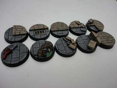 25mm resin bases x10 Ruins City Fight Warhammer 40,000 40k Bolt Action