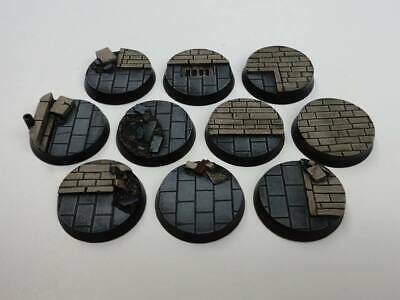 32mm resin bases x10 Ruins City Fight Warhammer 40,000 40k Bolt Action