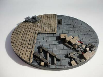 120mm oval resin base Ruins City Fight Warhammer 40,000 40k Bolt Action