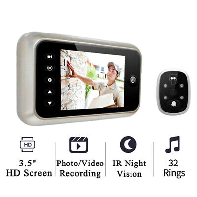 "3.5"" LCD color screen electronic door bell viewer IR peephole digital camera~GN"