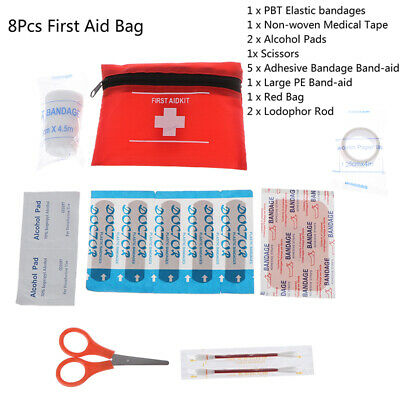 FirstAid EnergencyKit Camping Sport Travel Emergency Survival Kit Medical Bag~GN