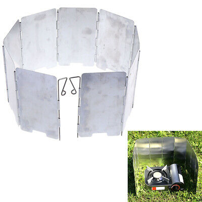 9Plate Foldable Burner Windshield Outdoor Camping CookingGas StoveWind Shield~GN