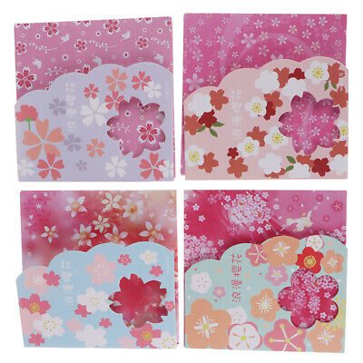 1Box square origami paper double sides cherry folding sakura papers DIY decor~GN