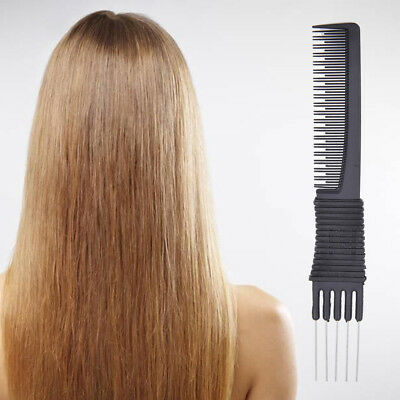 Double ends 2 Use Plastic Metal Hair Brushes Comb Barber Salon T~GN