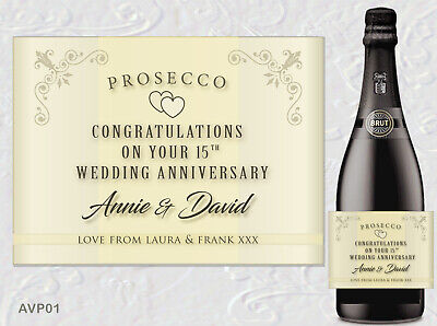 Congratulations On Your Wedding Day PERSONALISED PROSECCO LABEL