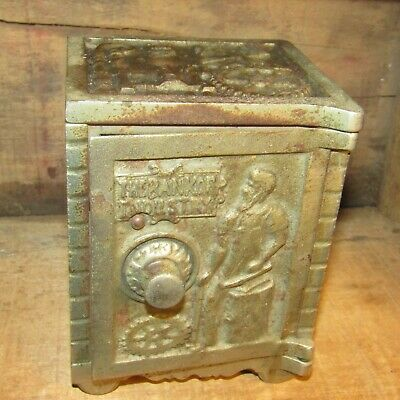 "Rare Large Kenton Cast Iron ""The Bank Of Industry"" Coin Safe Bank C. 1890"
