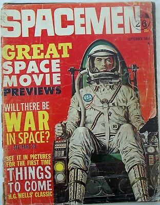 Spacemen No 2 - Sept 1961 - Warren Publishing - Used Condition - RARE