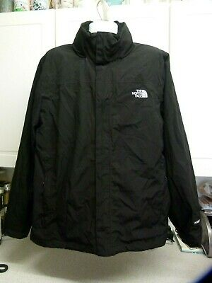 The North Face Resolve Hyvent Jacket Mens Large Black Waterproof Hooded