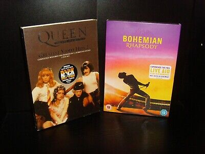 Bohemian Rhapsody and Queen Greatest Video Hits DVD Bundle