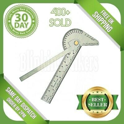Engineers Gauge Bevel Protractor Square Rule Ruler Angle Finder Measure