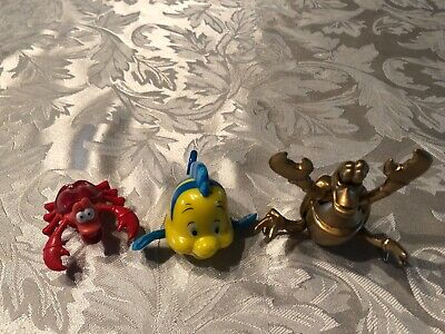 1996 Disney Little Mermaid McDonalds Happy Meal Wind Up Toys
