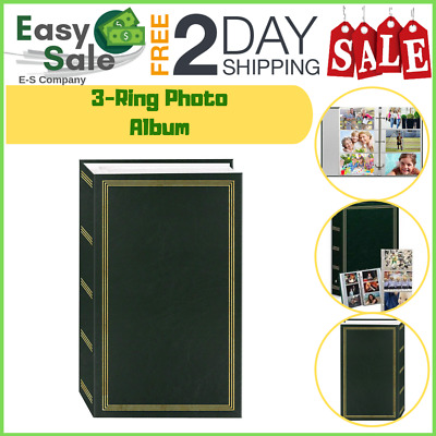 Ess Three Ring Photo Album Holder Home Remembrance Family Leatherette 504 Pocket