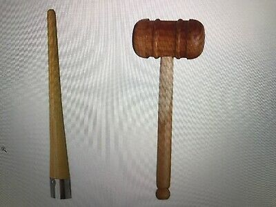 Cricket Combo Grip Cone with Wooden Mallet Hammer for Knocking The Bat US