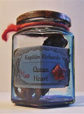 Alchemie Labor Deko Richards Ocean Heart Glas Bizzar Kurios Clow in the Dark