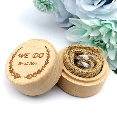 Wood Ring Box Wedding Engagement Wooden Ring Bearer Box Rustic Ring BoxHolder~GN