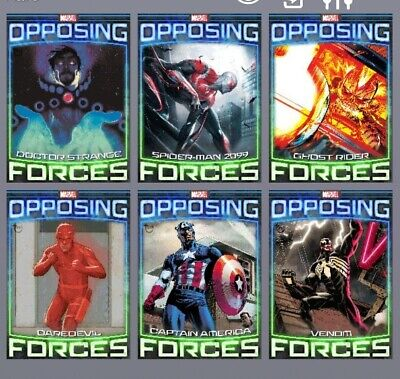 Topps Marvel Collect Opposing Forces 1-5 wave 1 Tilt With Award Digital
