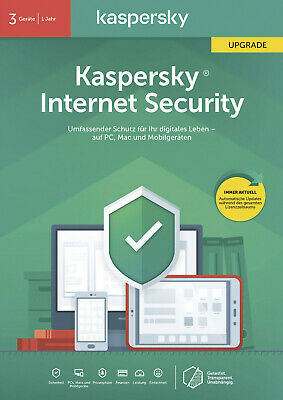 Kaspersky Internet Security 2020 Antivirus 3 PC/1 Jahr Win/Mac/Android *Upgrade*