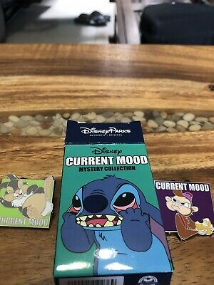 NEW Disney Parks Current Mood Mystery Collection Set Of 2 Collector Trading Pins