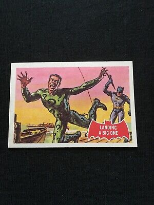 1966 Batman Red Trading Card No.1 The Riddler