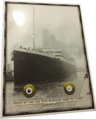COAL & WOOD pieces recovered from TITANIC relics 1912 wreckage, RMS historic