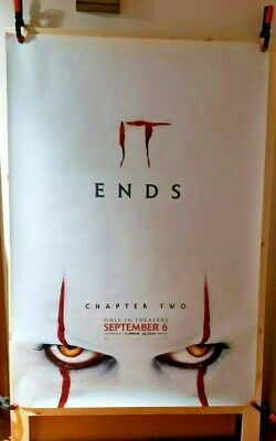 Stephen King IT Chapter 2 (2019) IMAX DS 2 Sided 4 x 6 Bus Shelter Poster
