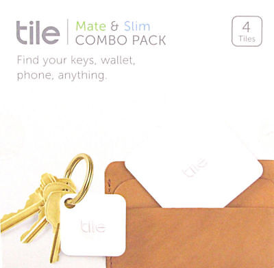 NEW Tile Mate & Slim Combo Pack Key Wallet Item Finder 4-pack iOS Android