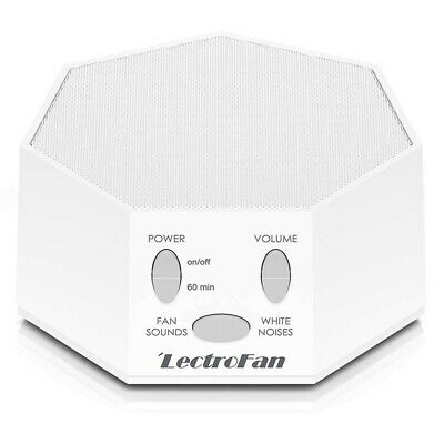 LectroFan ASM-1007 High Fidelity White Noise & Fan Sound Machine White Perf Cond