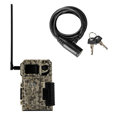 SPYPOINT LINK MICRO Nationwide Cellular Hunting Trail Game Camera & Cable Lock