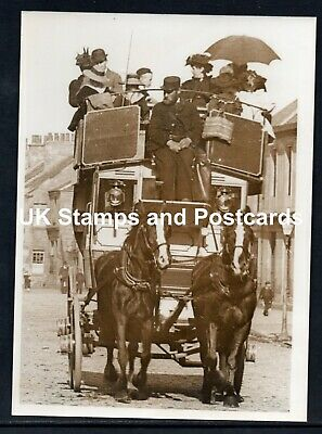 Very Old Photograph Of Horse Drawn Bus In Fisher Row Musselburgh Early 1900s?