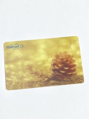 WALMART Gift Card ZERO $ BALANCE, Fall Autumn Acorn 3D, No Value, Wal-Mart