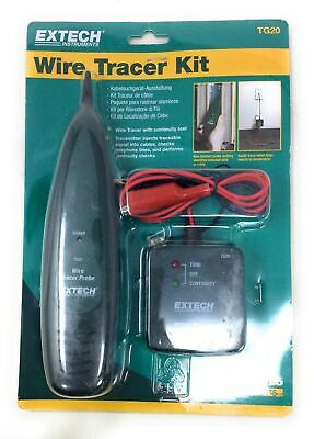 Extech Instruments TG20 Wire Tracer / Tone Generator Kit OPEN Box For Testing