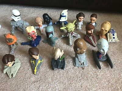 Star Wars Mcdonalds Collectible Happy Meal Bobblehead Toys 17 Of The 18 In Set