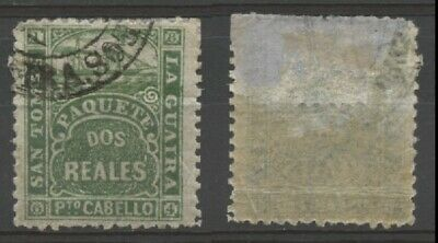 """No: 68720 - DANISH WEST INDIES - """"LA GUAIRA"""" - OLD & RARE SHIPPING LETTER STAMP!"""
