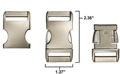 5 - 1 Inch Satin Aluminum Side Release Buckles
