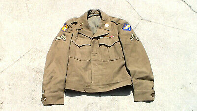 Old WW2 era US Army Air Forces 1945 dated Ike Jacket 8th Air Force USED AAF