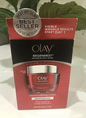 OLAY Regenerist Micro-Sculpting Cream Face Moisturizer 1.7 oz NEW IN BOX
