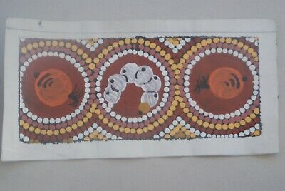 Aboriginal Art (small)-Witchetty Grub and Honey Ants Cecily Daniels with COA#216