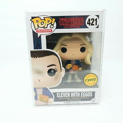 Funko Pop! Stranger Things: Eleven With Eggos CHASE #421 W/ PROTECTOR!
