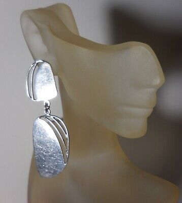 IONE TISSOT Large Sterling Silver MEXICO TAXCO Dangling EARRINGS 925 Vintage