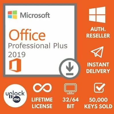 Microsoft Office 2019 Professional Plus - Lifetime Product License Key For 1PC