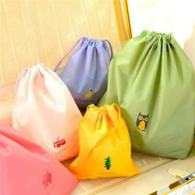 Portable Shoes Bag Travel Sport Storage Pouch Drawstring Dust Bags Non-Woven LL
