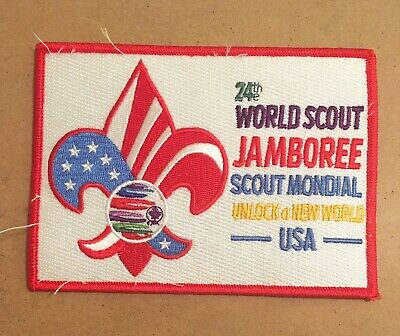 "2019 World Scout Jamboree USA Contingent Bag Patch 5 1/2""x4"