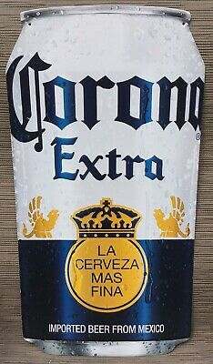 """Corona Extra Cerveza Beer Can Tin Sign Advertising Sign Room Man Cave NEW 24"""""""