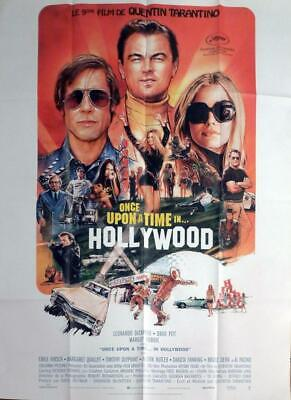 Once Upon A Time In Hollywood - Pitt / Tarantino - Large French Movie Poster